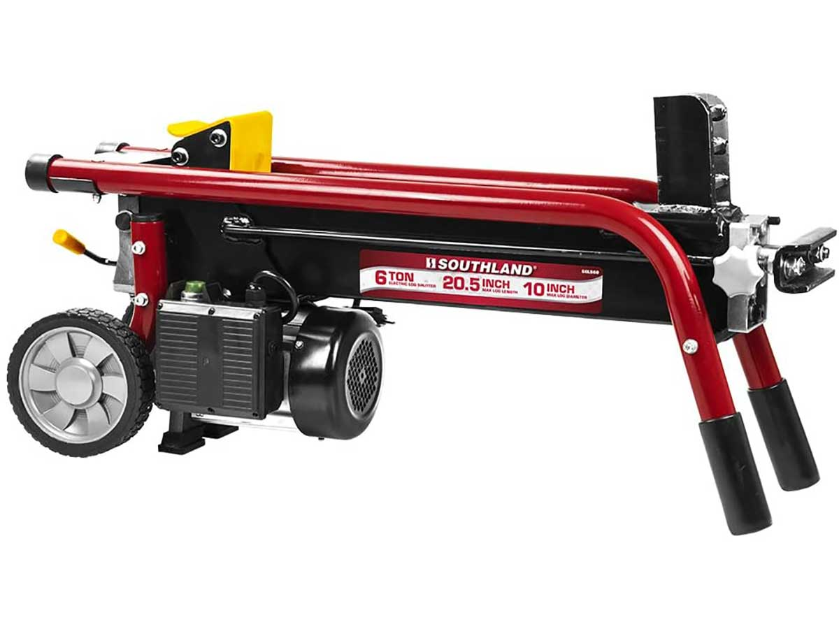 Southland Outdoor Power Equipment SELS60 6 Ton Electric Log Splitter, Red