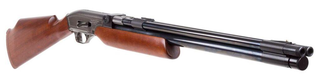 Seneca double barrel air shotgun on a white background.