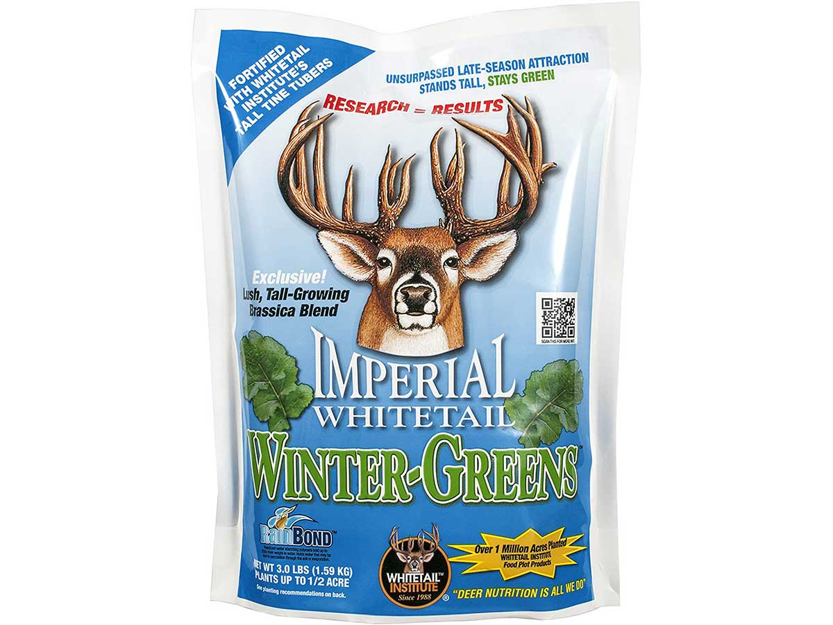 Whitetail Institute Winter-Greens Deer Food Plot Seed for Fall Planting - Annual Brassica Blend to Attract and Hold Deer in the Early and Late Season - Very Cold and Drought Tolerant