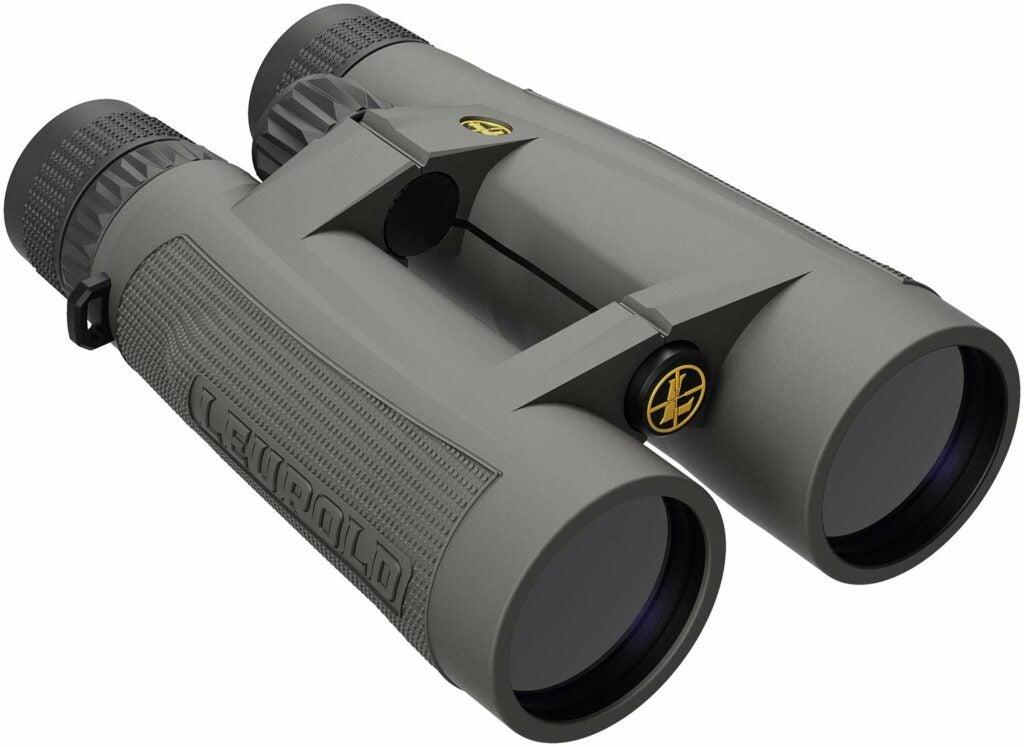 A pair of leupold santiam binoculars on a white background.