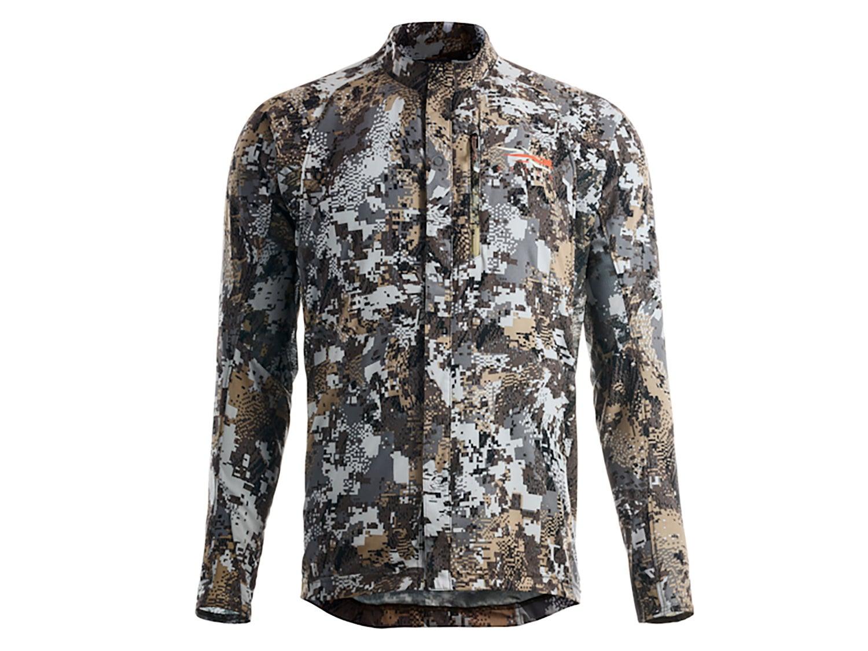 A Sitka camoflauge jacket on a white background.