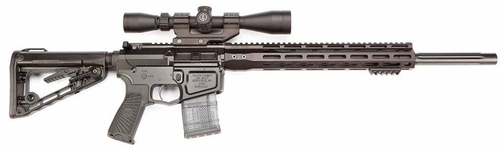 A Super Sniper scoped rifle on a white background.