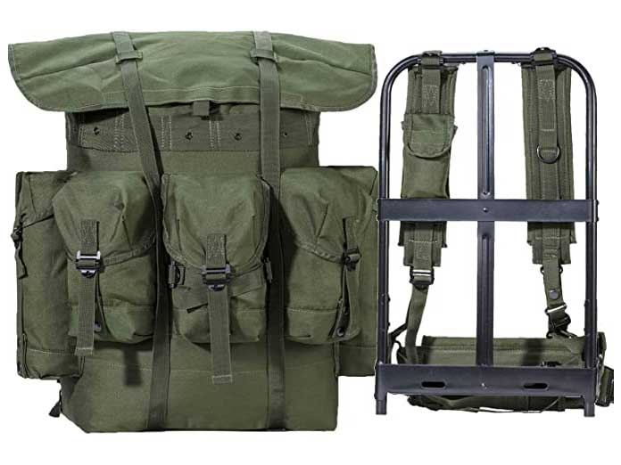 Military Rucksack Alice Pack Army Survival Combat Field Backpack with Frame