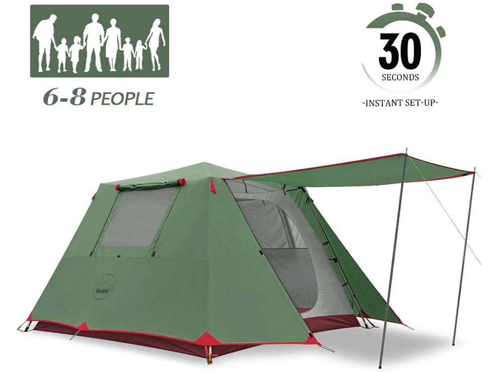 KAZOO Family Camping Tent Large Waterproof Pop Up Tents