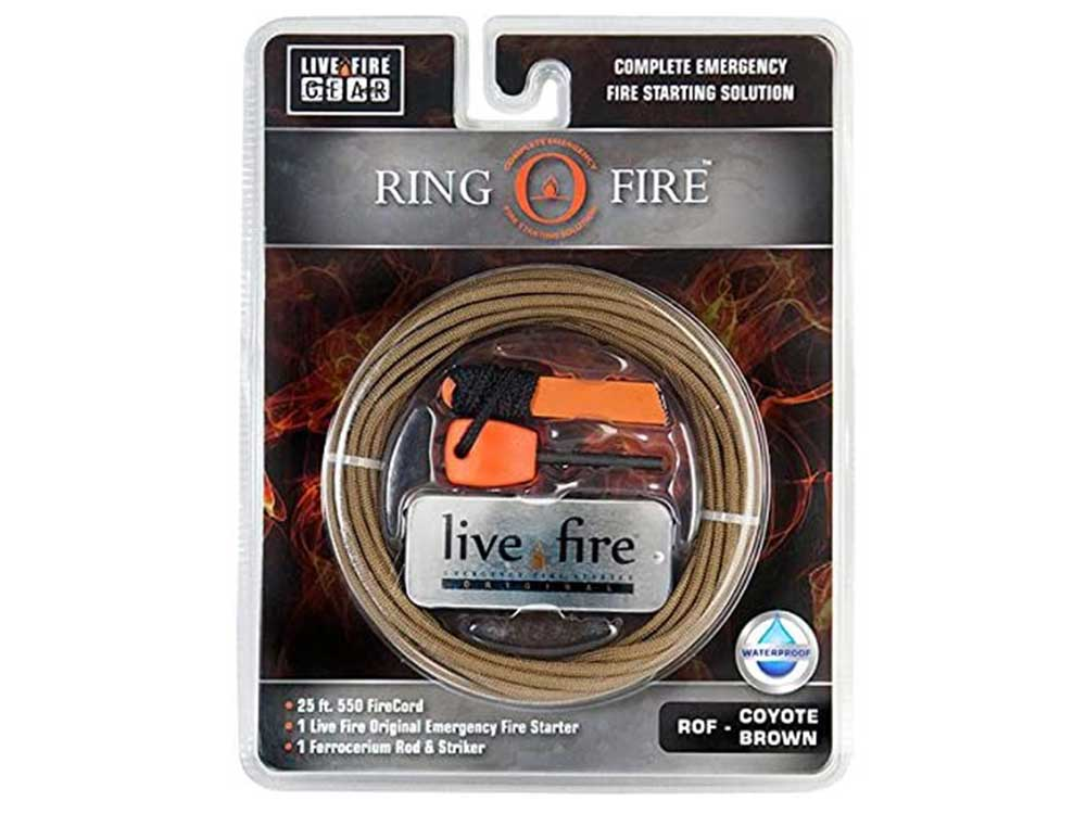 Live Fire Gear Ring O Fire - Coyote Brown