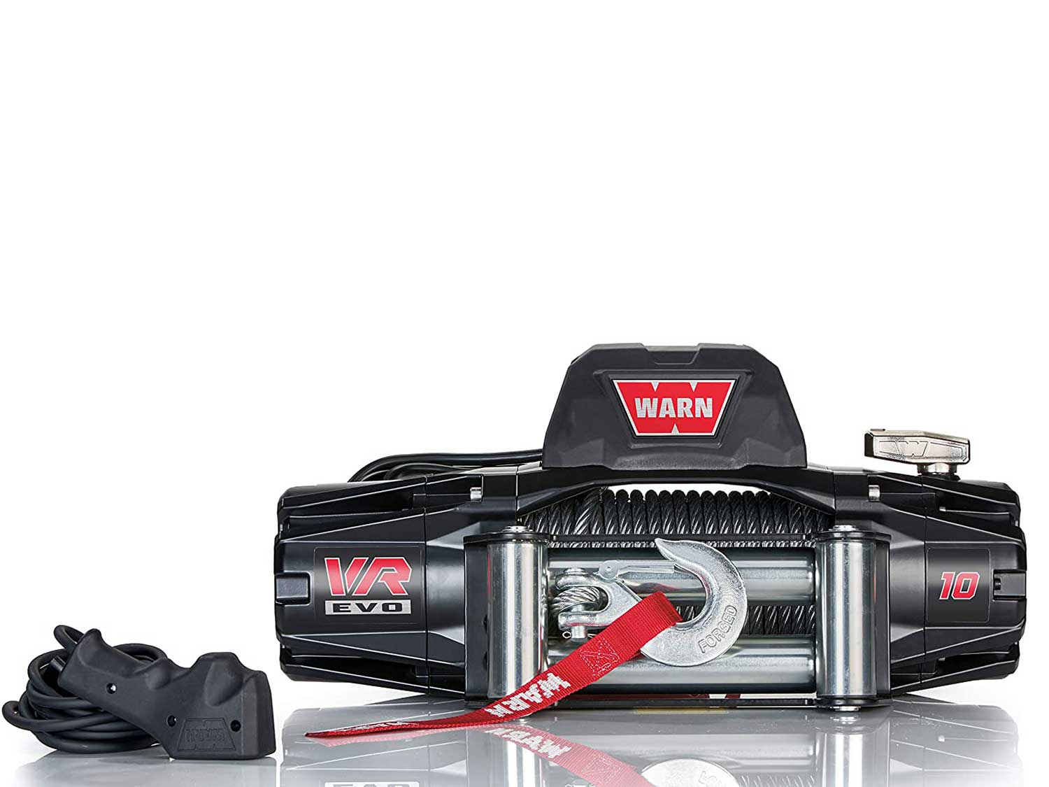 WARN 103252 VR EVO 10 Electric 12V DC Winch with Steel Cable Wire Rope: 3/8
