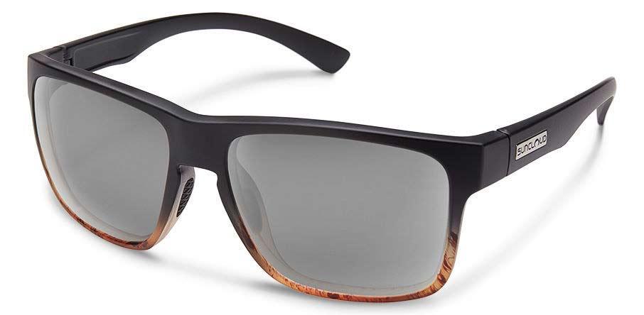 Suncloud polarized sunglasses on a white background.