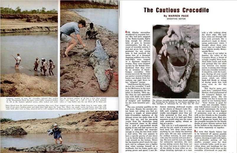A clipping of an article from field and stream magazine.