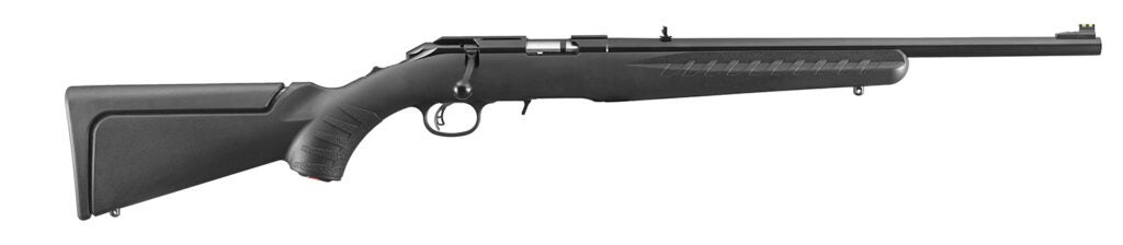 Ruger American .22 WMR on a white background.