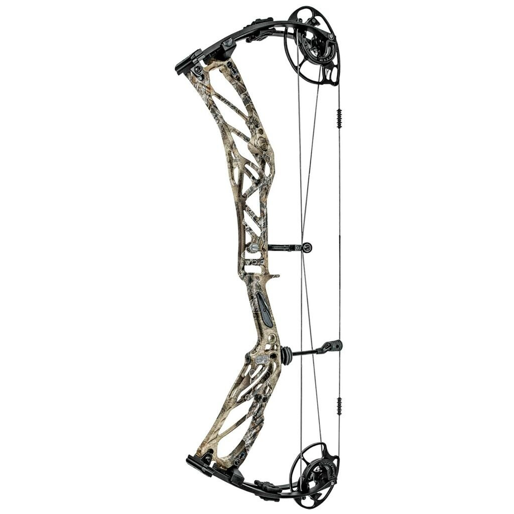 An Elite Kure Compound bow on a white background.