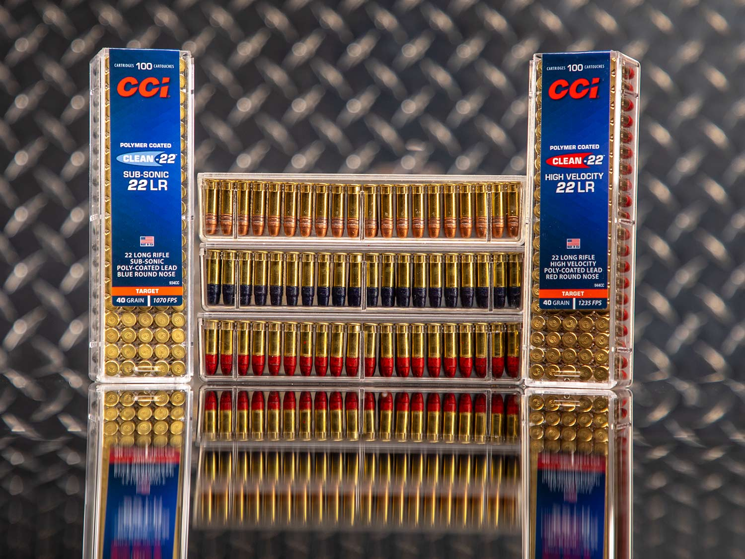 Several boxes of CCI .22 LR ammo.