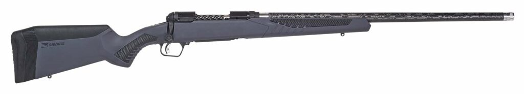 The Savage 110 Ultralite rifle on a white background.