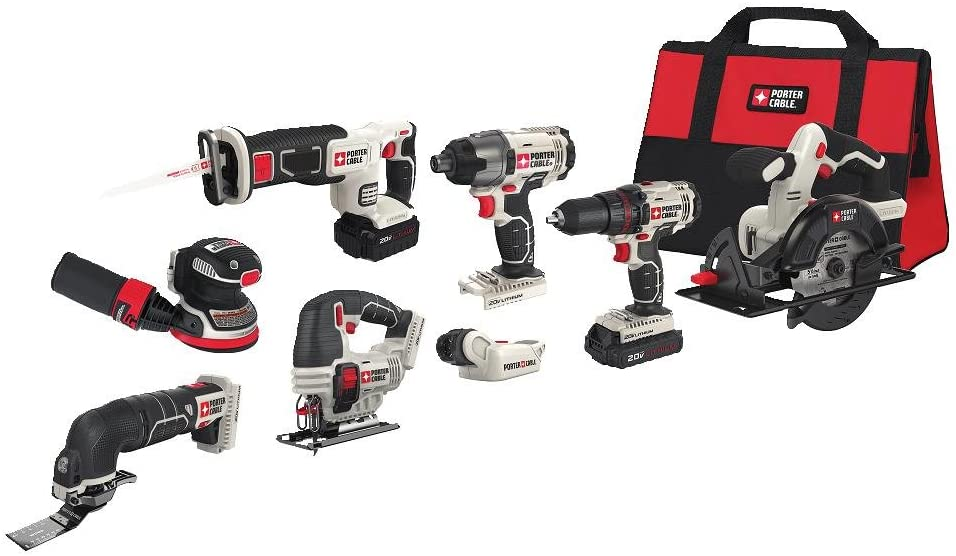 Porter-Cable 20V 8-piece Cordless Combo