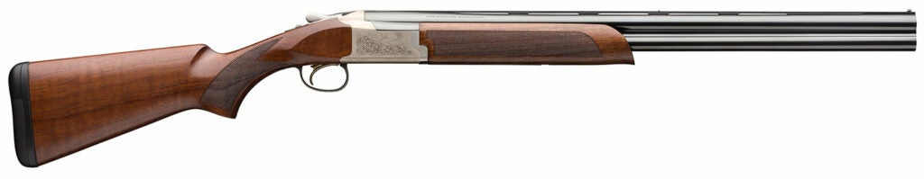 The Browning 725 Citori Feather gun on a white background.