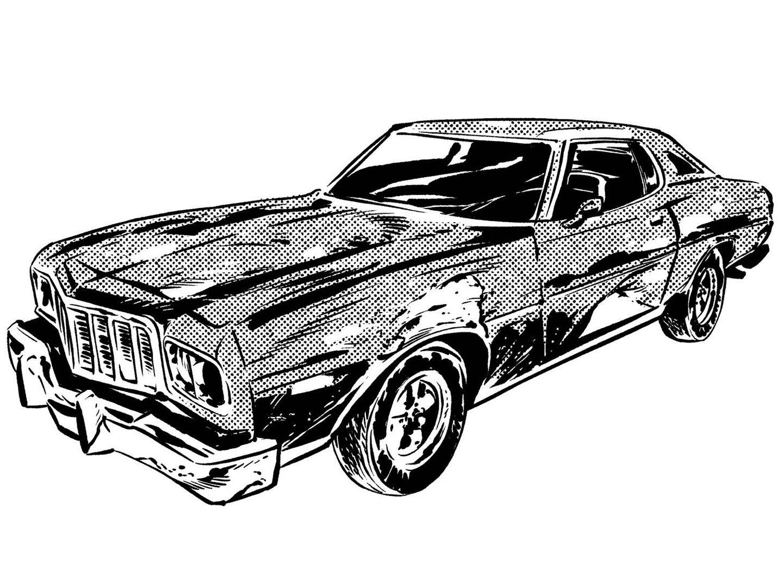 An illustration of a Gran Torino