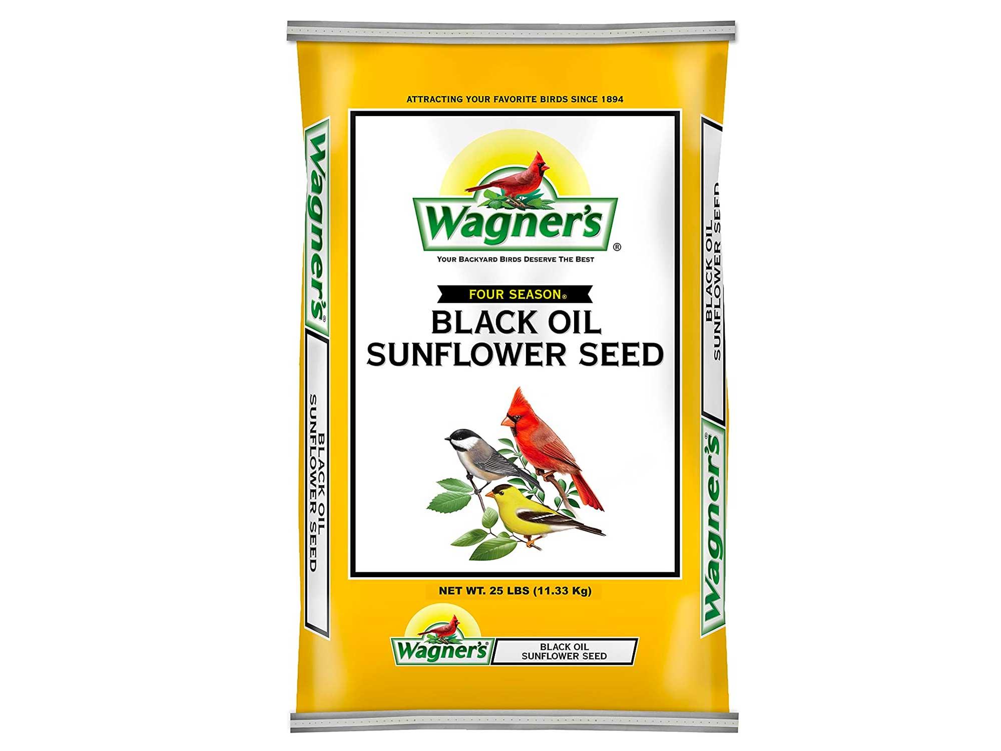 Wagner's Black Oil Sunflower Seed Wild Bird Food, 25-Pound Bag