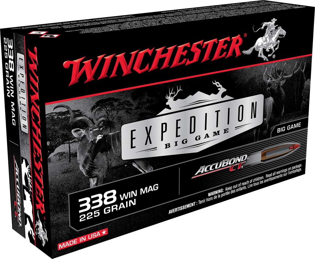 A box of Winchester Expedition Big Game  ammo.