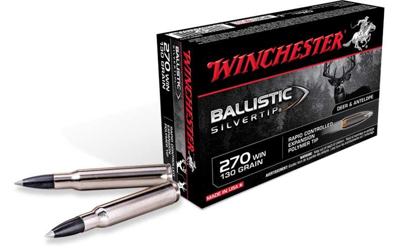 A box of Winchester Ballistic 270 ammo.