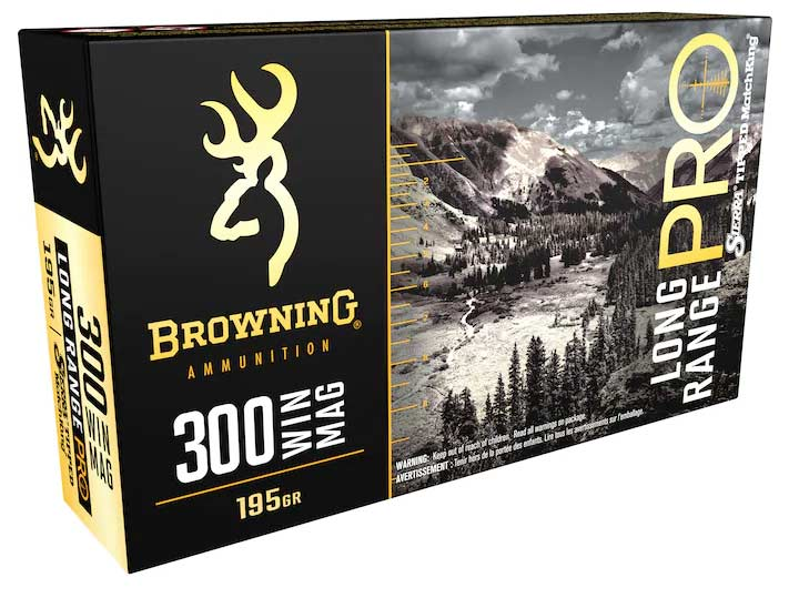 A box of Browning 300 Winchester Magnum ammunition.