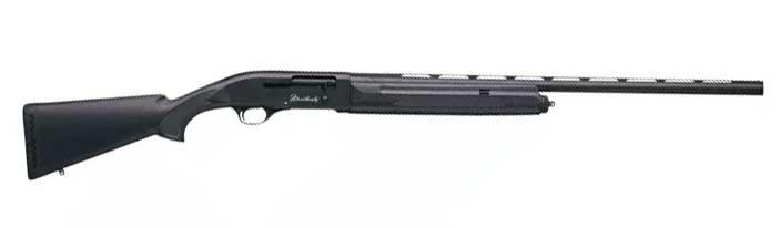A Weatherby shotgun on a white background.