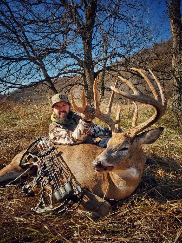One more look at the hunter and his incredible buck.