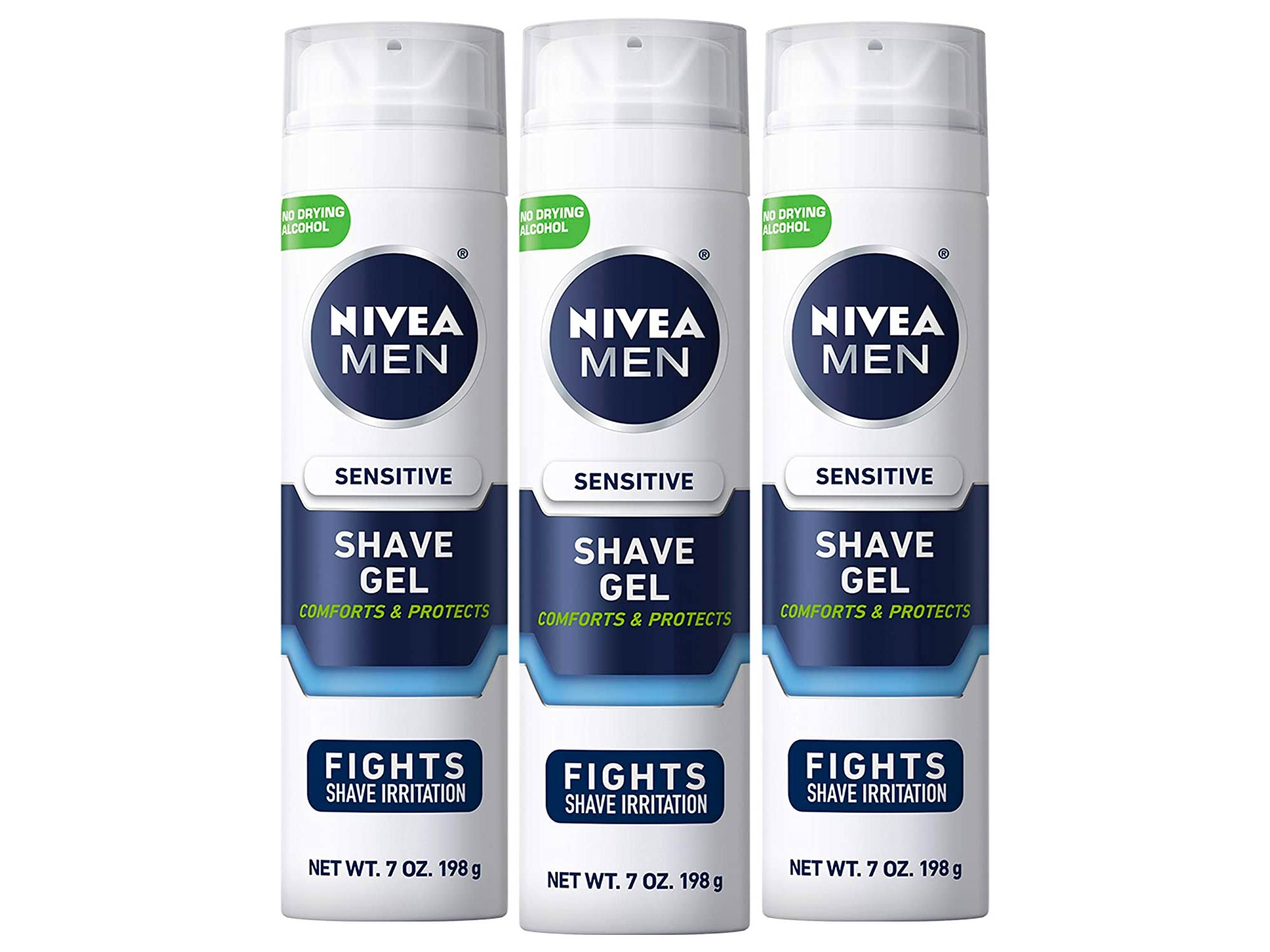 Nivea Men Sensitive Shaving Gel - Protects Sensitive Skin From Shave Irritation - 7 Ounce (Pack of 3)