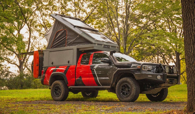 The Alu-Cab Canopy Camper on a Toyota Tacoma.