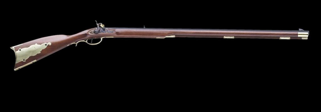 A Pedersoli Kentucky Percussion Rifle.