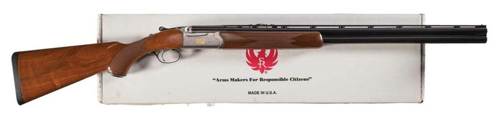 The Ruger Red Label on a white background..