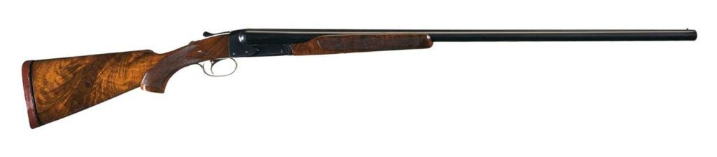 The Winchester Model 21 Duck Gun on a white background..