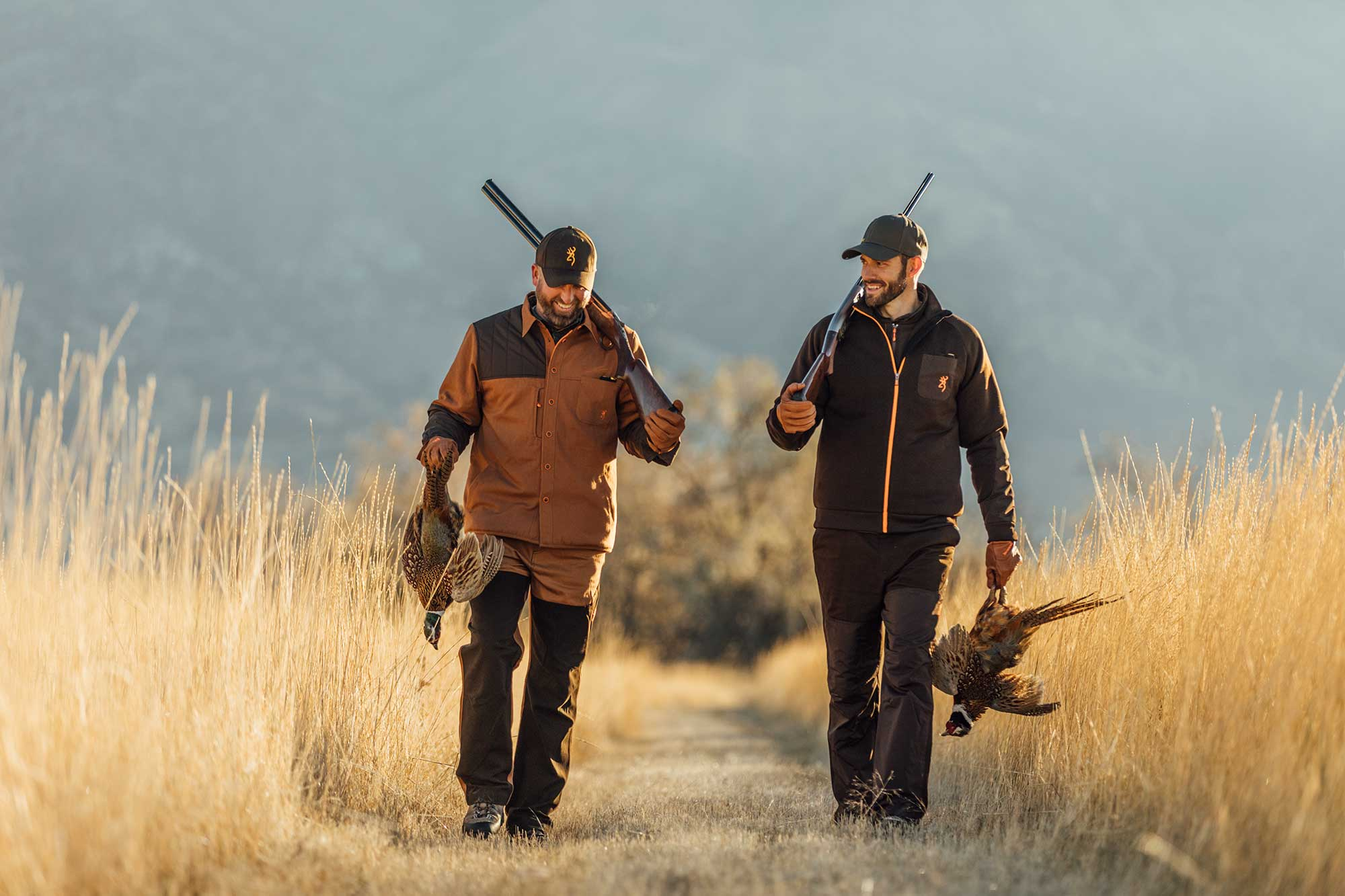 Two men on a pheasant hunt