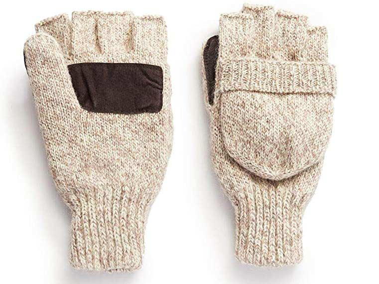 Hot Shot Thinsulate wool fingerless mittens.