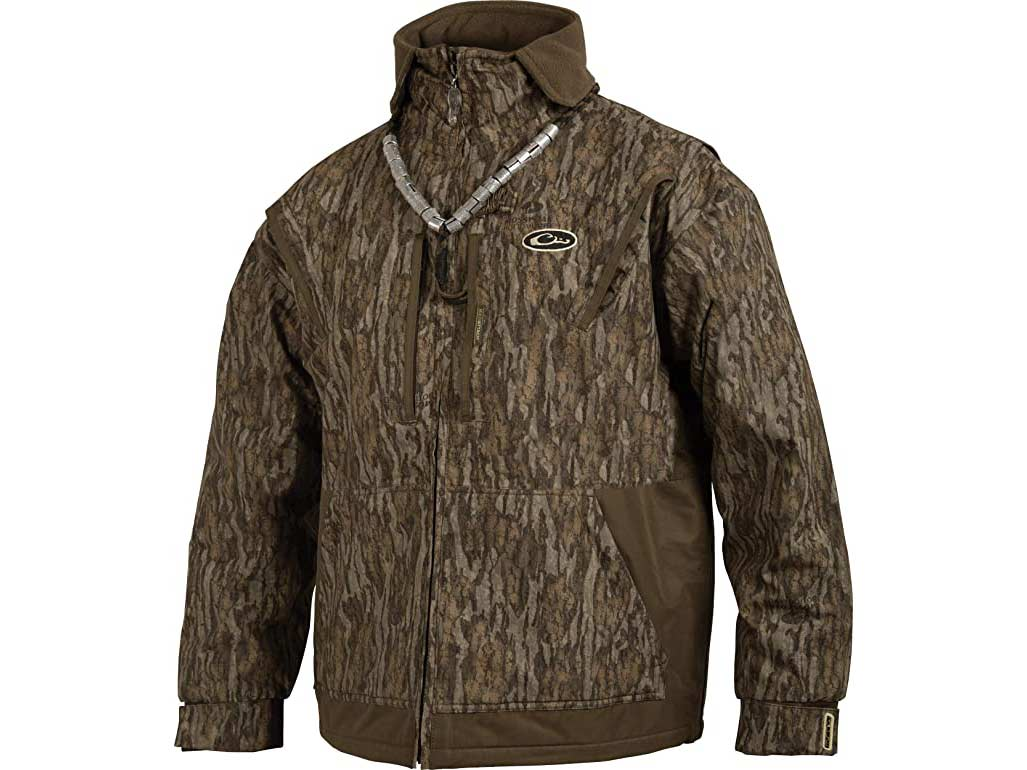 Drake Waterfowl fleece-lined full zip jacket.