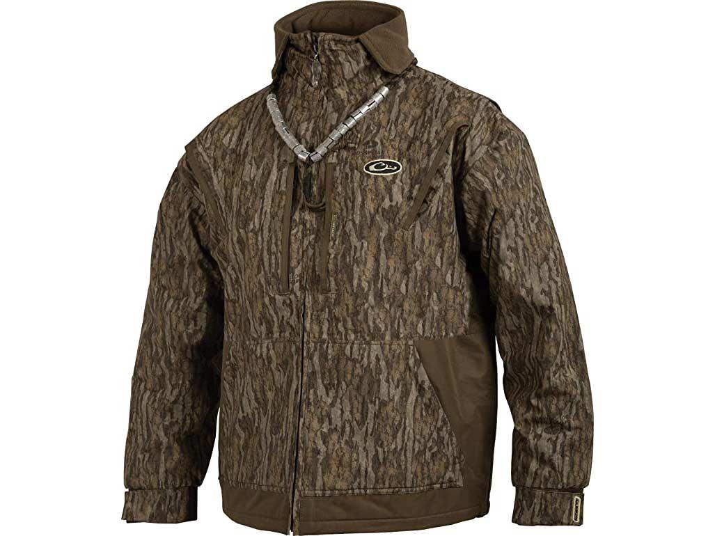 Drake Waterfowl fleece-lined full zip jacket.