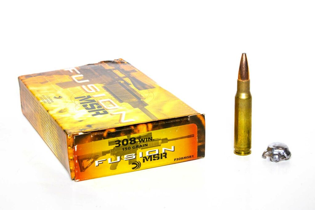 A box of Federal Fusion ammunition.