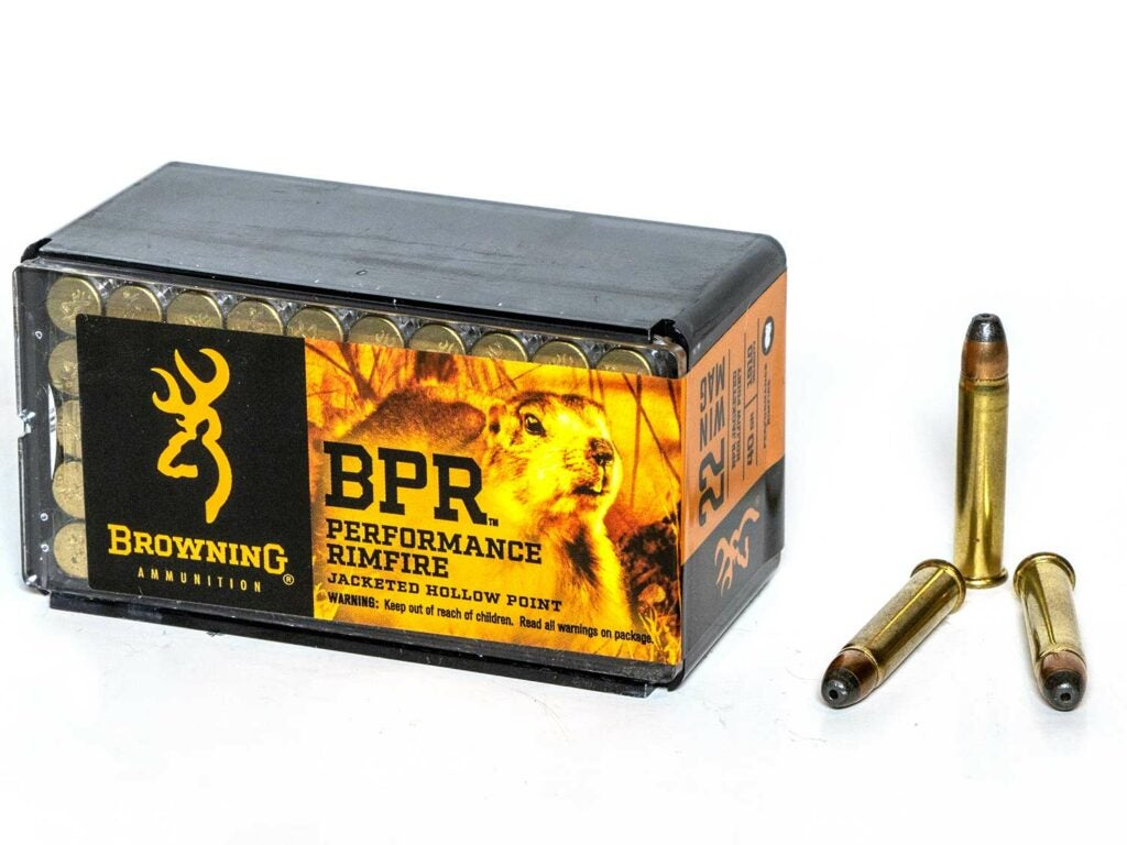 A box of Browning BPR ammo on a white background.