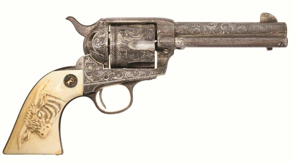 President Roosevelt's Colt revolver on a white background.