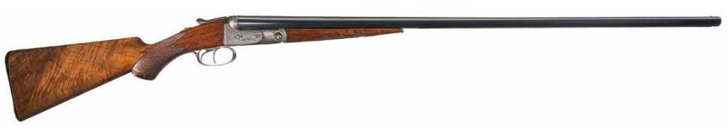 A Parker Brothers 20-gauge shotgun on a white background.