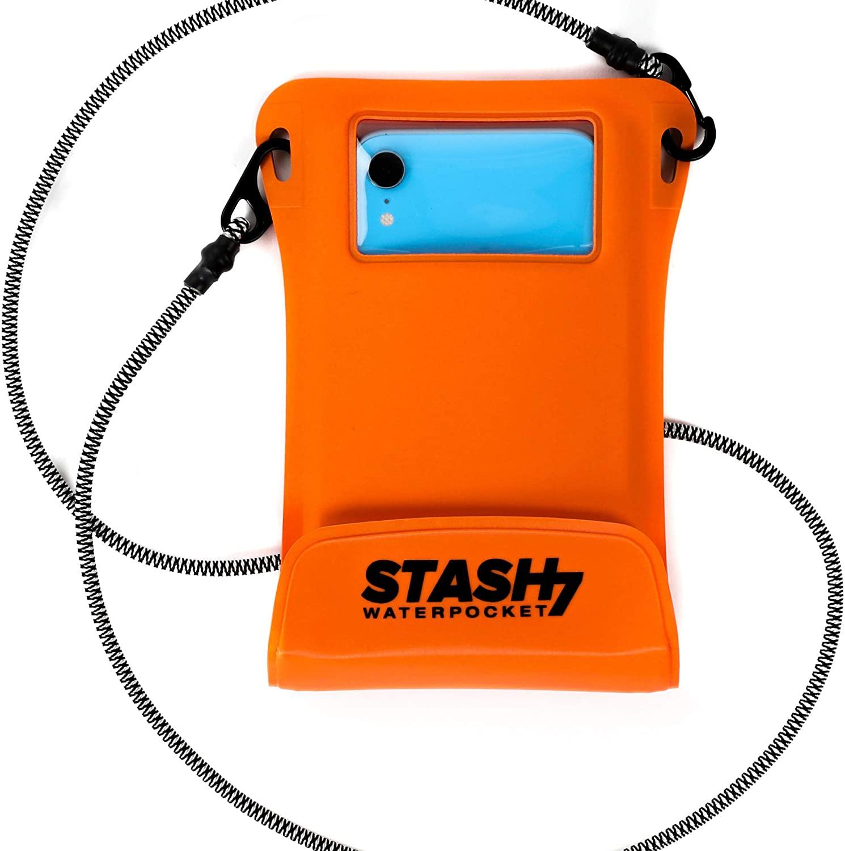 Wearable waterproof phone pouch