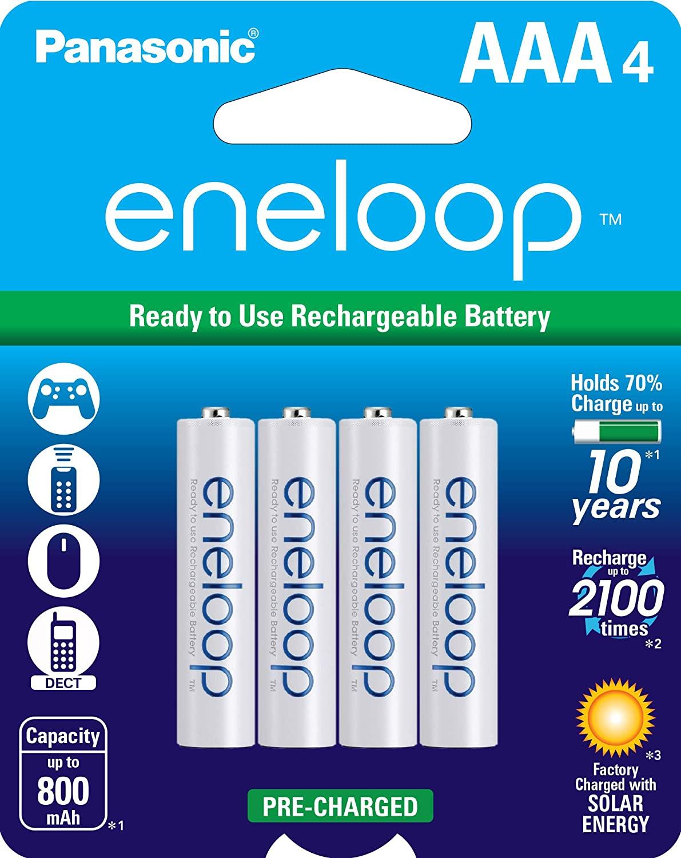 Eneloop rechargeable AAA batteries