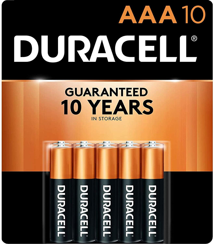 Duracell copper AAA batteries