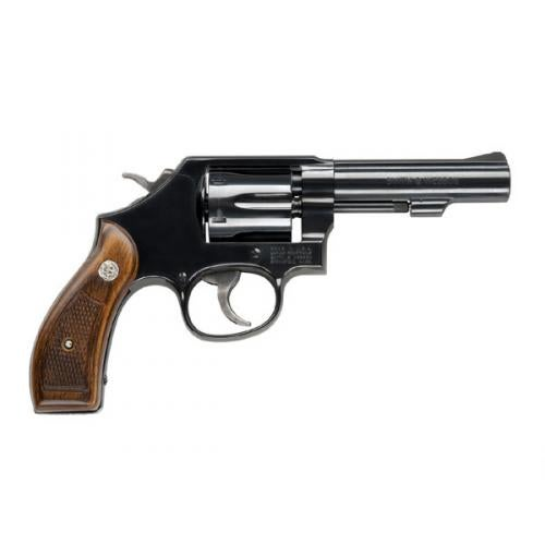 The Smith & Wesson Model 10 on a white background.