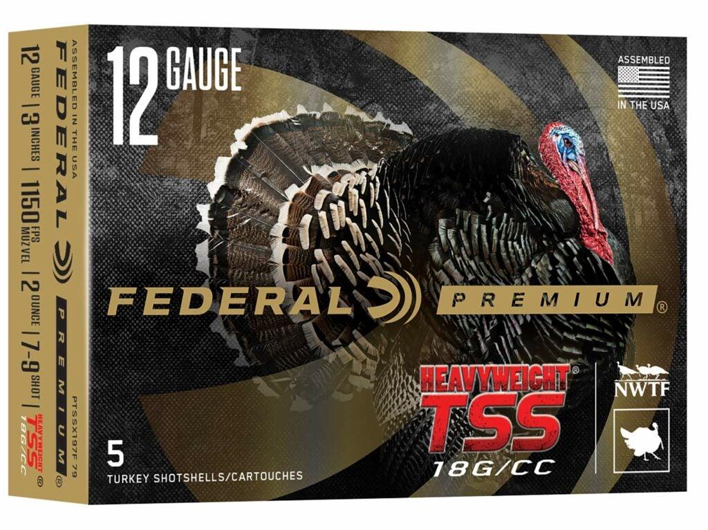 A box of Federal Premium Heavyweight TSS