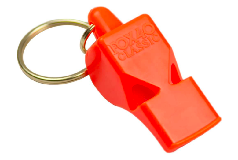 The Fox 40 Classic Whistle on a white background.