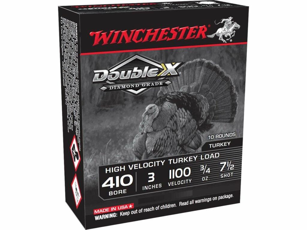 A box of Winchester 410 Turkey ammo.