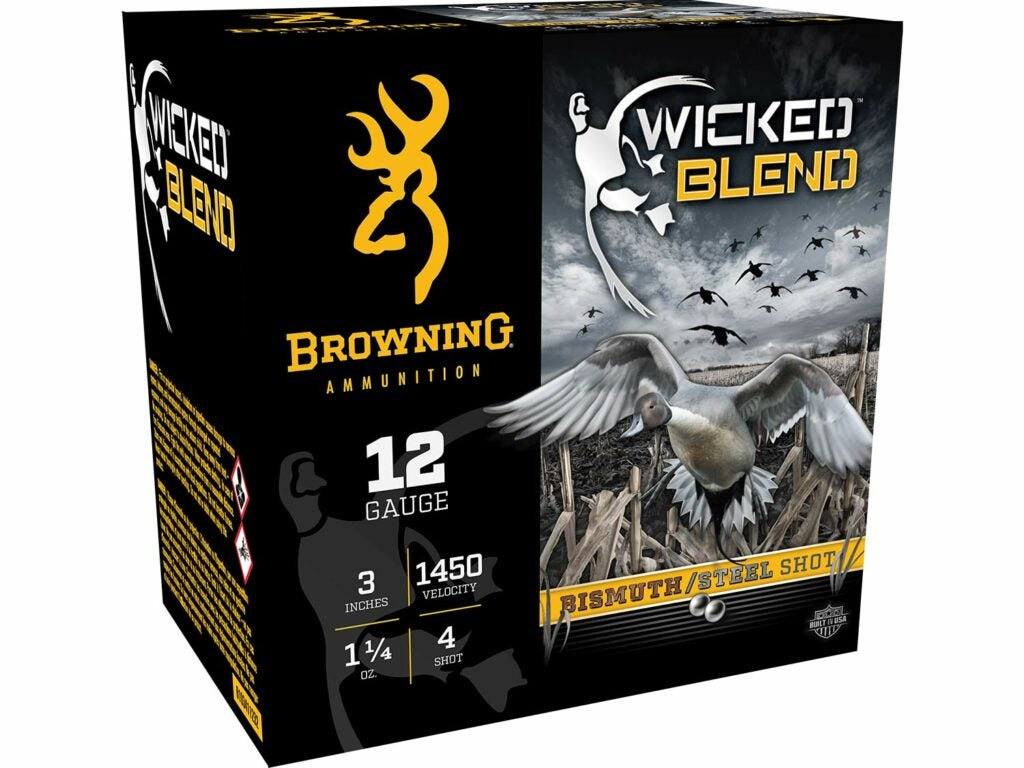 A box of Browning Wicked Blend ammo.