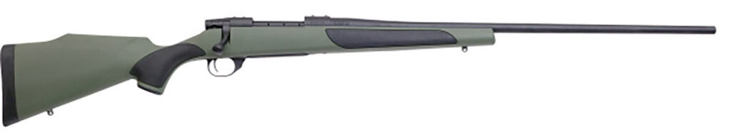 The Weatherby Vanguard Synthetic Green rifle.