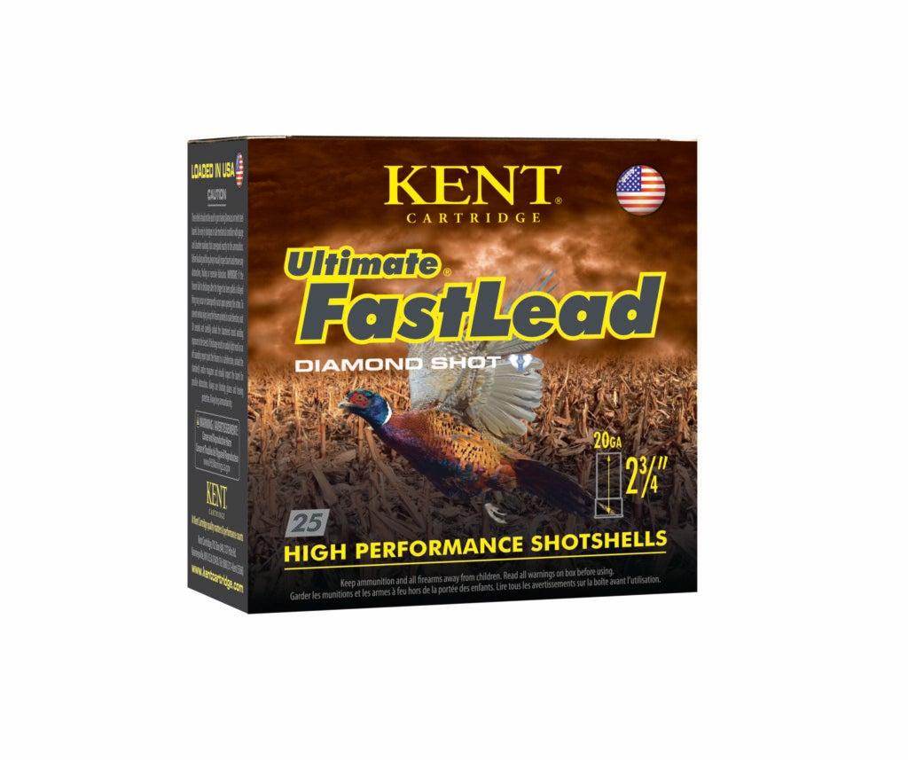 Kent FastLead 20-gauge shotgun shells.