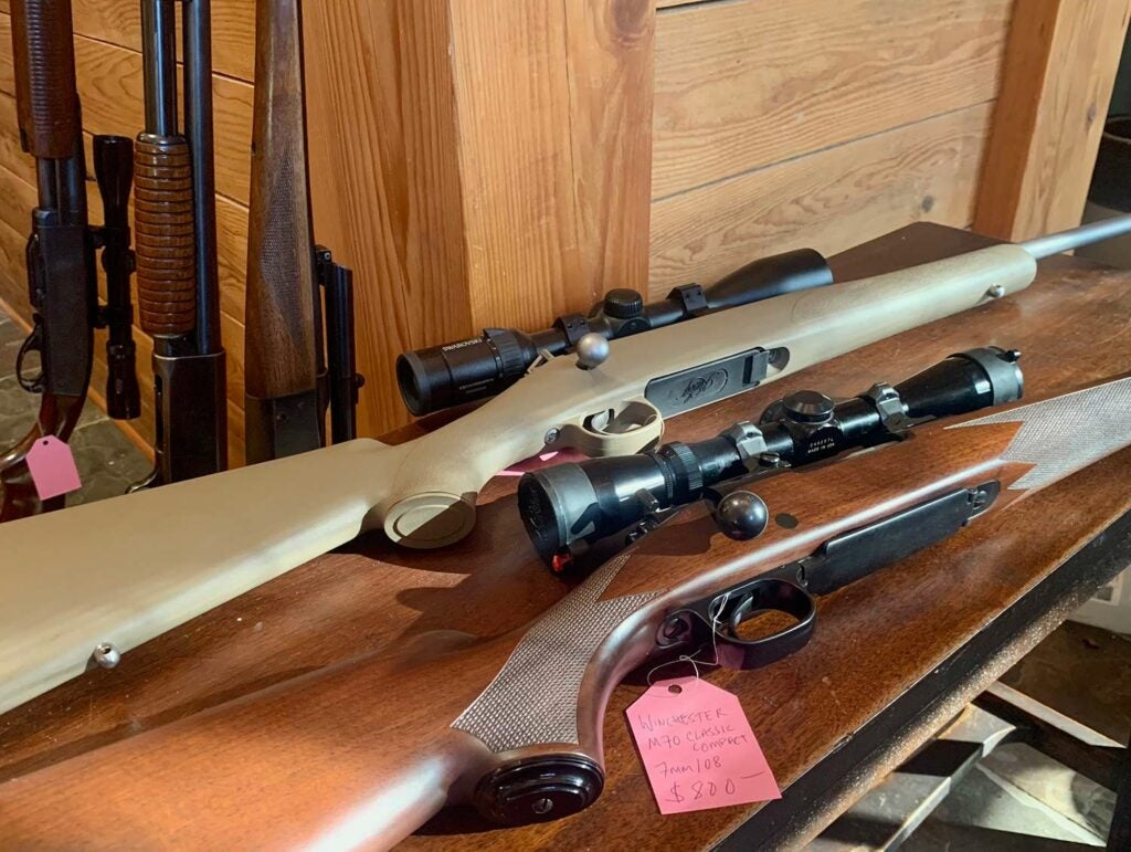 Winchester Model 70 Classic Compact and Kimber 84M Hunter