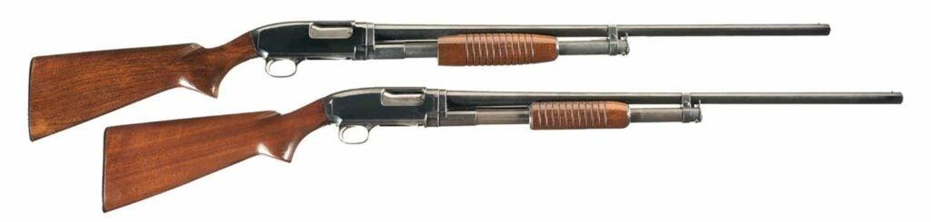 The Winchester Model 12 shotguns.